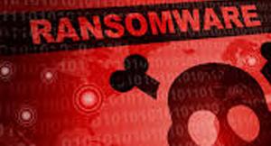 ransomware fundo vermelho