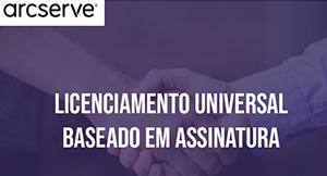 arcserve licenciamento universal
